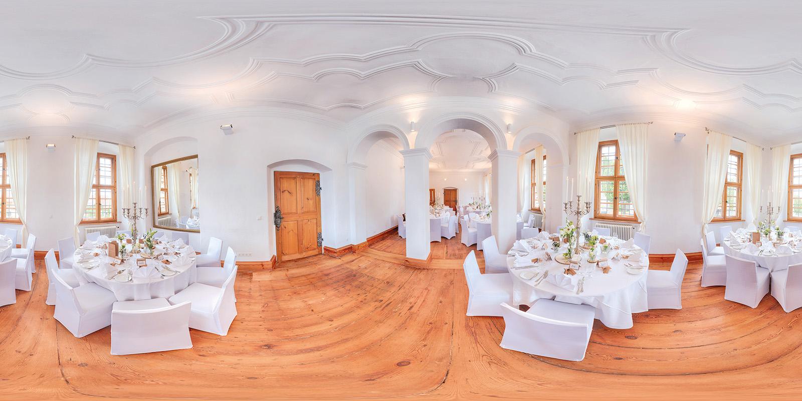 Panorama - Barocksaal Schloß Hemhofen